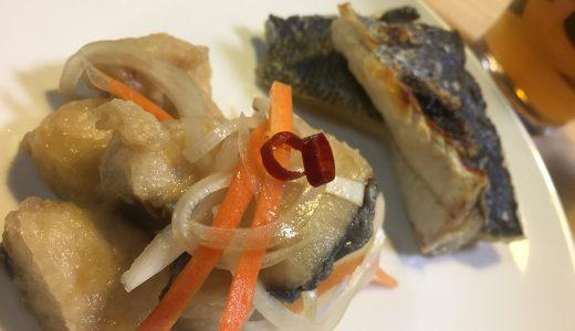 【きょうのさかな料理】サゴシ南蛮漬け、スズキの塩焼き